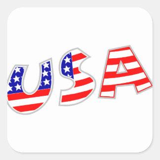 Adesivo Quadrado EUA, squiggly