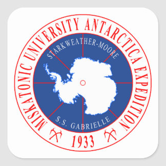 Adesivo Quadrado Expedição em segundo antárctica da universidade de