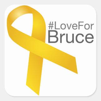 Adesivo Quadrado Fita do #LoveForBruce