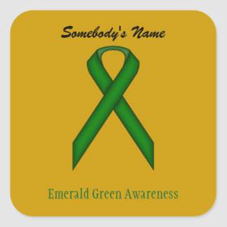 Adesivo Quadrado Fita do padrão do verde esmeralda