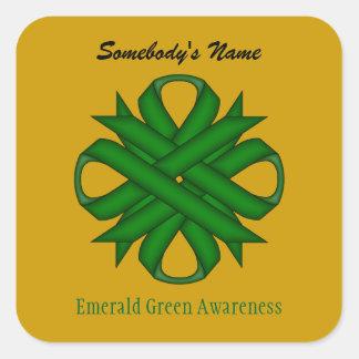 Adesivo Quadrado Fita do trevo do verde esmeralda