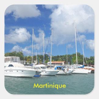 Adesivo Quadrado Fort-de-France, Martinica