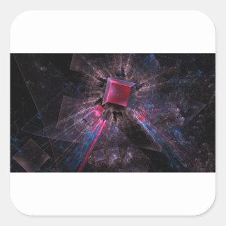Adesivo Quadrado Fractal preto