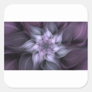 Adesivo Quadrado Fractal roxo