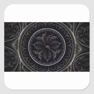 Adesivo Quadrado fractal roxo escuro