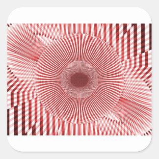 Adesivo Quadrado fractals