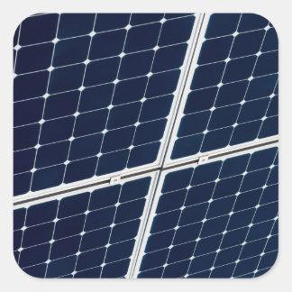 Adesivo Quadrado Imagem de um painel de energias solares engraçado