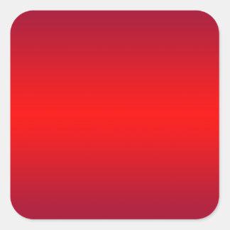 Adesivo Quadrado Inclinação vermelho nuclear - vazio do modelo dos