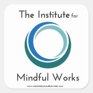 Adesivo Quadrado Instituto para a engrenagem consciente do logotipo