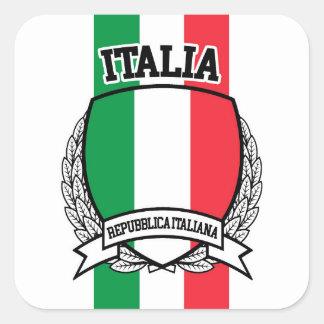 Adesivo Quadrado Italia