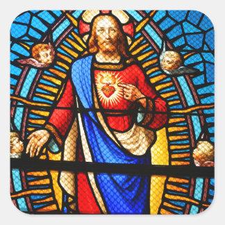 Adesivo Quadrado Jesus Cristo