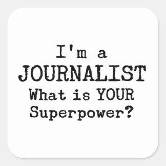 Adesivo Quadrado journalista