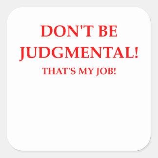 Adesivo Quadrado juiz