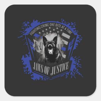 Adesivo Quadrado K-9 unidade - maxilas de justiça