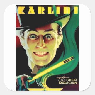 Adesivo Quadrado Karlini o mágico