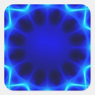 Adesivo Quadrado laser azul #2