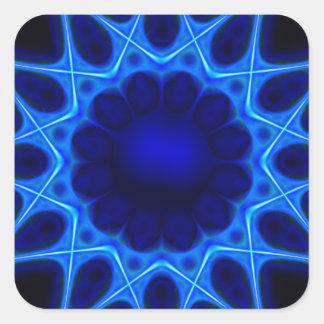 Adesivo Quadrado laser azul #3