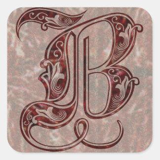 Adesivo Quadrado Letra B