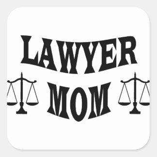 Adesivo Quadrado mamã do advogado