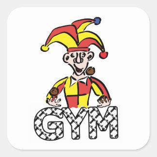 Adesivo Quadrado Manipule o Gym