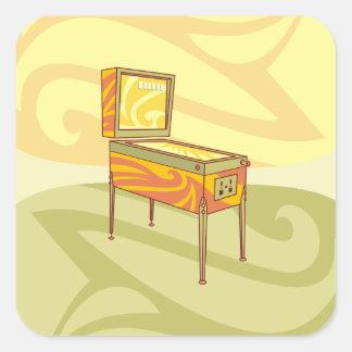 Adesivo Quadrado Máquina de Pinball