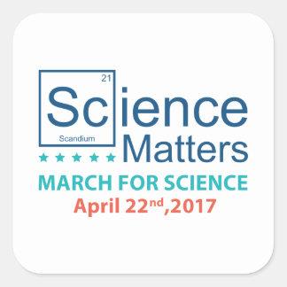 Adesivo Quadrado Matérias da ciência