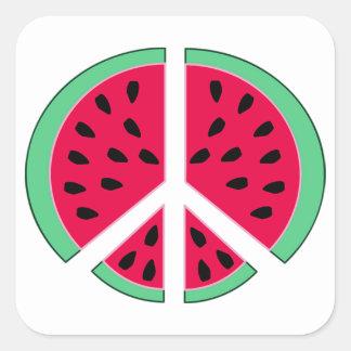 Adesivo Quadrado Melancia da paz