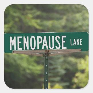 Adesivo Quadrado Menopausa - mulheres maduras - fêmea