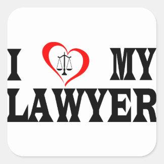 Adesivo Quadrado Mim coração meu advogado