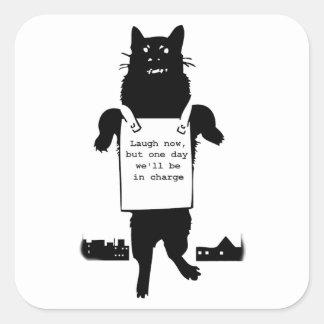 Adesivo Quadrado Monstro Cat