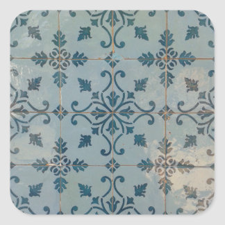 Adesivo Quadrado Mosaicos do vintage de Portugal