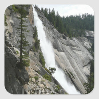 Adesivo Quadrado Nevada cai no parque nacional de Yosemite