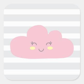 Adesivo Quadrado nuvem