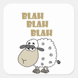 Adesivo Quadrado O carneiro cínico engraçado diz blá - blá