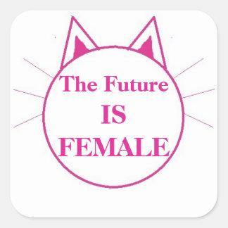 Adesivo Quadrado O futuro é fêmea