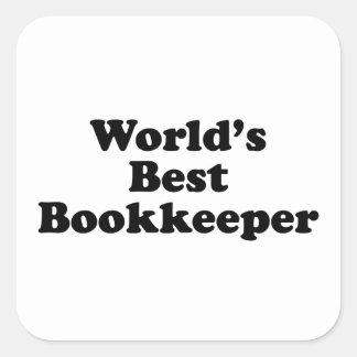 Adesivo Quadrado O guarda-livros o mais mau do mundo