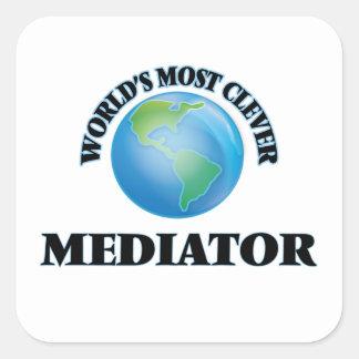 Adesivo Quadrado O mediador o mais inteligente do mundo