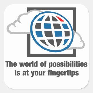 Adesivo Quadrado O mundo das possibilidades está em suas pontas do