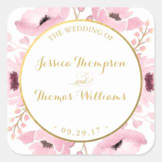 Adesivo Quadrado O primavera pica a coleção floral do casamento da