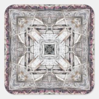 Adesivo Quadrado O rosa bonito Tinged o teste padrão inspirado