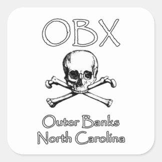 Adesivo Quadrado OBX - Bancos exteriores North Carolina