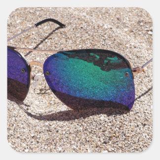 Adesivo Quadrado Óculos de sol