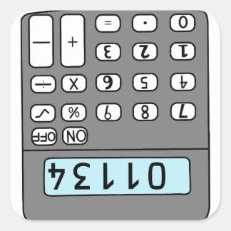 Adesivo Quadrado olá! calculadora