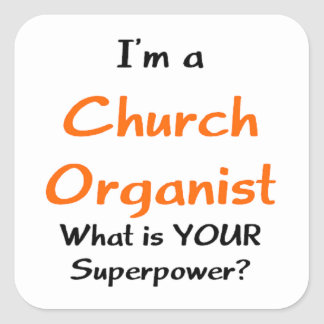 Adesivo Quadrado organista da igreja
