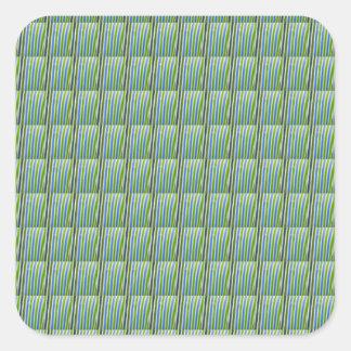 Adesivo Quadrado Os azulejos de cristal verdes de Goodluck