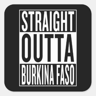 Adesivo Quadrado outta reto Burkina Faso