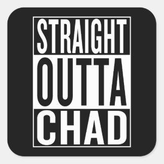 Adesivo Quadrado outta reto República do Tchad