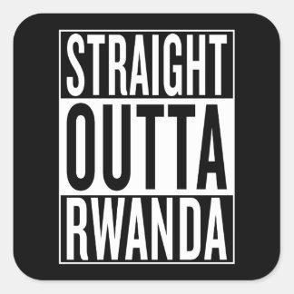 Adesivo Quadrado outta reto Rwanda