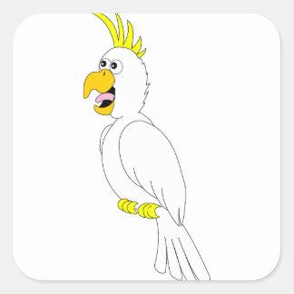 Adesivo Quadrado papagaio #3