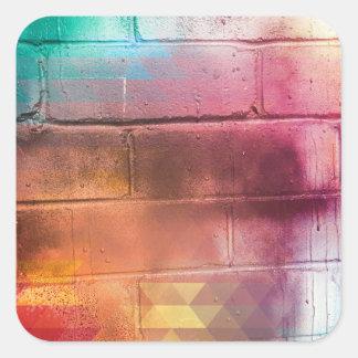 Adesivo Quadrado Para o amor da doação - multi arte da parede de